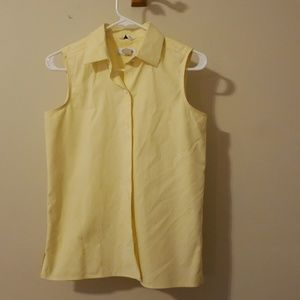 Sleeveless Talbots button up